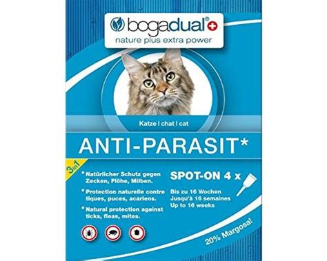 milben katze spot on bogadual ubo0542 anti parasit spot on katze 4 x 0 75 ml taketik