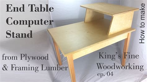 table computer stand plywood framing