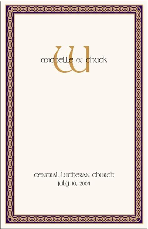celtic wedding program  wedding directories order