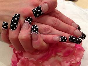 Eye Candy Nails & Training - Acrylic nails with black ...