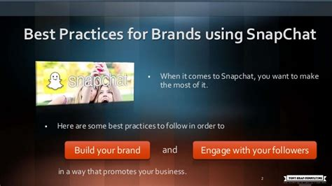 Best Practices For Brands Using Snapchat