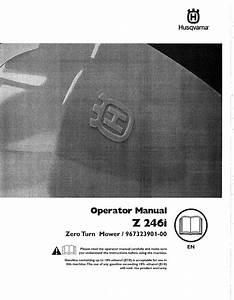 Husqvarna 967323901 00 1501265l User Manual Zero Turn
