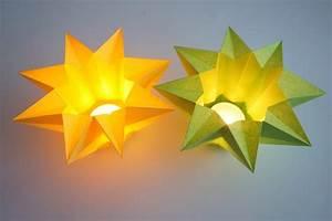 Basteln Mit Papier Anleitung : windlicht stern sonstige sterne basteln ~ Frokenaadalensverden.com Haus und Dekorationen