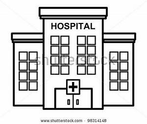 Hospital clipart black and white - Pencil and in color ...