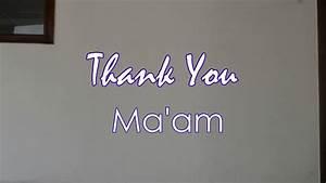 Thank You Ma U0026 39 Am