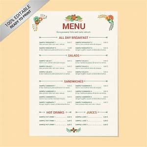 29+ Free Menu Templates – Free Sample, Example Format ...