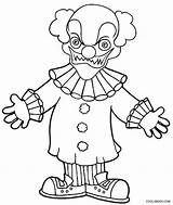 Clown Coloring Pages Printable Evil Scary Face Goosebumps Killer Joker Clowns Drawing Cool2bkids Halloween Drawings Easy Draw Space Getdrawings Getcolorings sketch template