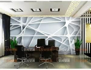 3D stereoscopic wallpaper mesh paper cut large Creative ...