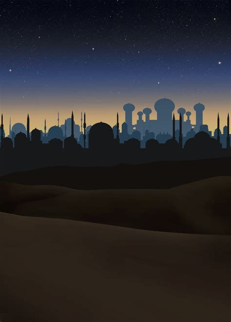 stock aladdin night scene background  greyfaerie