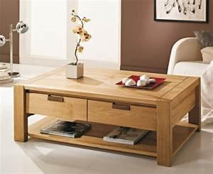 Table Basse Grande Taille : table basse grande taille table ronde bois maison boncolac ~ Teatrodelosmanantiales.com Idées de Décoration