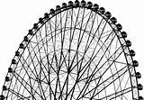 Wheel Ferris Clip Clipart Coloring Vector Cliparts Colouring Line Wheels Library sketch template