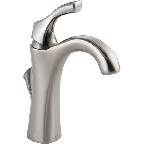 delta faucets kitchen sink shop delta stainless 1 handle single 4 in