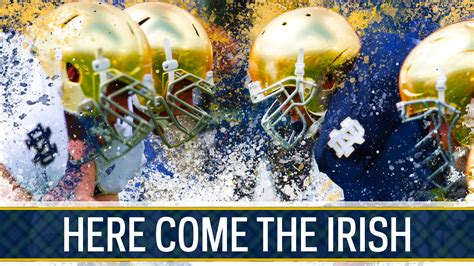 Notre Dame Background Notre Dame Fighting Background In Gold And Blue Hd