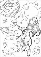 Astronaut Coloring Printable Space Moon Coloringfolder Articulo sketch template