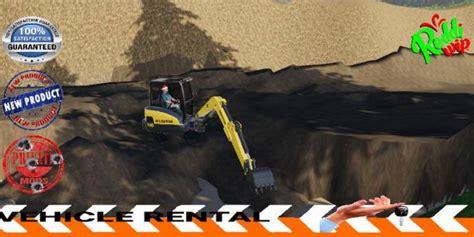 fs mini excavator kiloutou  simulator games mods