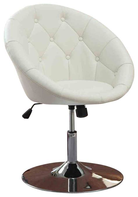 faux leather tufted swivel adjustable air lift dining