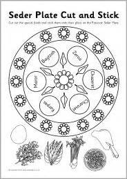 seder plate cut and stick activity sb3278