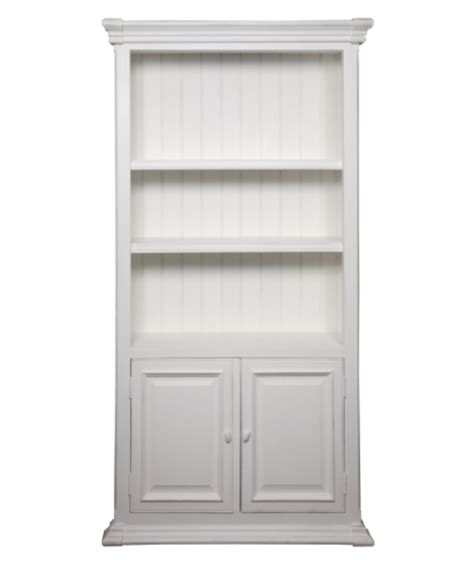 White Bookcase With Doors by White Timber Bookcase With Doors Allissias Attic