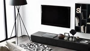 Tele 190 Cm : meuble tv meuble t l d co salon avec t l c t maison ~ Teatrodelosmanantiales.com Idées de Décoration