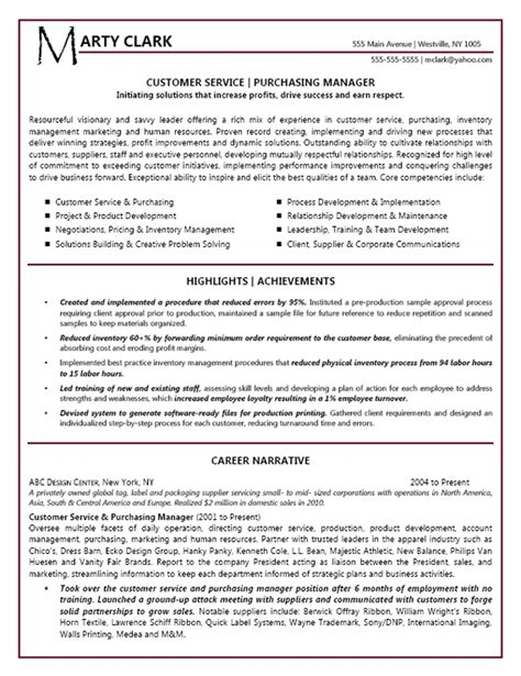 resume format for customer service manager customer service manager resume exle