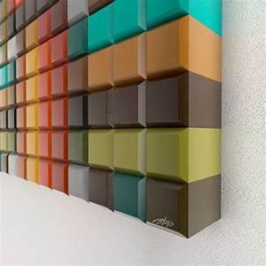 Wooden Pixelated Wall Art : Unique Pixelated Wall Art