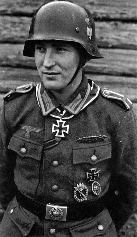 Most Decorated German Soldier by Helmet Of Knights Cross Owner Karl Radermacher From