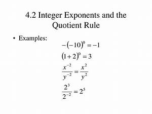 PPT - 4.1 The Product Rule and Power Rules for Exponents ...