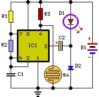 How Build Battery Powered Night Lamp Circuit Diagram