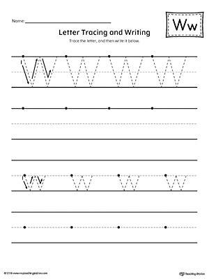 letter  tracing  writing printable worksheet