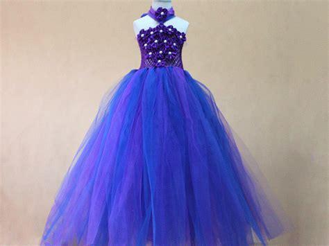 Dress Baby Angsa purple and royal blue tutu baby dress baby dress