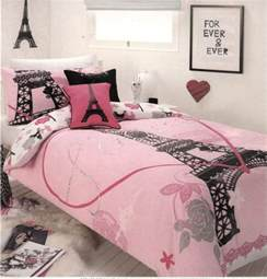 j adore ooh la la eiffel tower pink black silver quilt cover set new quilt cover