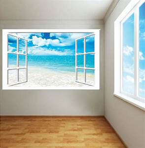 ocean view mural decal view wall decal murals primedecals With wall murals decals