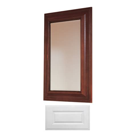 medicine cabinets with mirrors at lowes shop insignia insignia 29 75 in h x 19 75 in w satin white