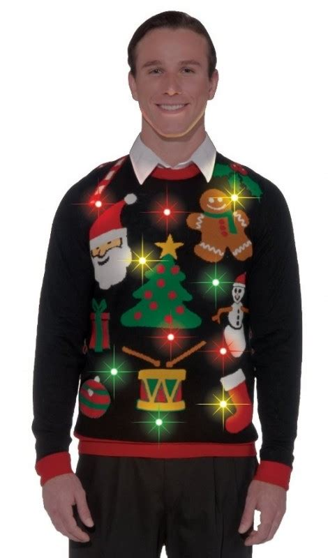 ugly light up christmas sweaters light up ugly christmas sweater christmas