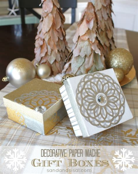 decorative decoupage gift boxes sand  sisal