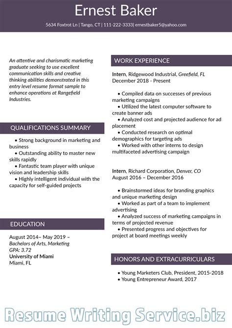 pin  resume  samples  entry level resume format