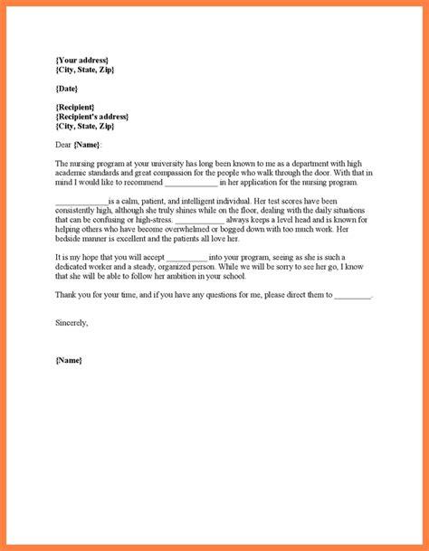 letter of recommendation for nursing school nursing school letter of recommendation letter of
