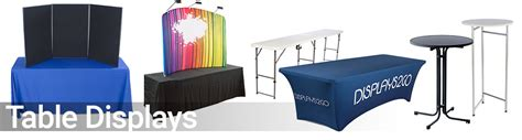counter top sale trade displays supplies booths banners table