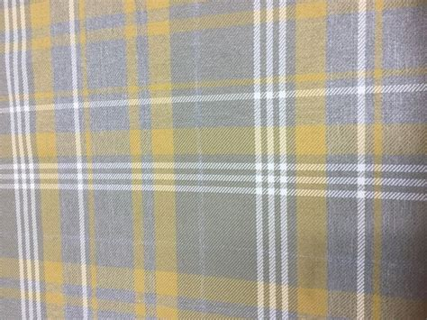 Yellow And Grey Tartan Fabric By The Metre Seashore Shower Curtains White Curtain Material Country Cottage And Co Double Rod For Crocodile Teal Chocolate Little Girl Bedroom