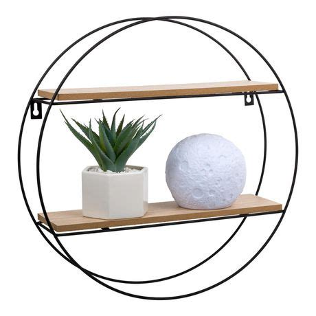 Decorative wall shelves are a practical way to incorporate some style and functionality into your home. Truu Design Decorative Round Floating Wall Shelf | Walmart ...