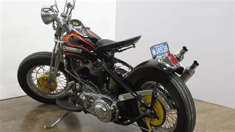 1948 Harley-davidson Panhead Bobber Last Year For Springer