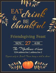customize  thanksgiving poster templates postermywall