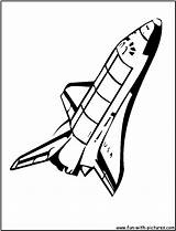 Coloring Shuttle Nasa Space Spaceship Drawing Cartoon Pages Clipart Drawings Printable Fun Transportation Getdrawings Crafts Logos sketch template