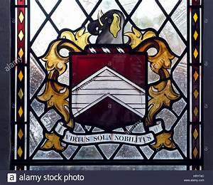 Throckmorton Coat Of Arms Stained Glass In The Catholic