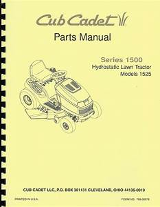 Cub Cadet 1525 Parts Manual Hydrostatic Lawn Tractor