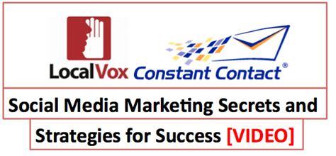 Social Media Marketing Secrets And Strategies For Success