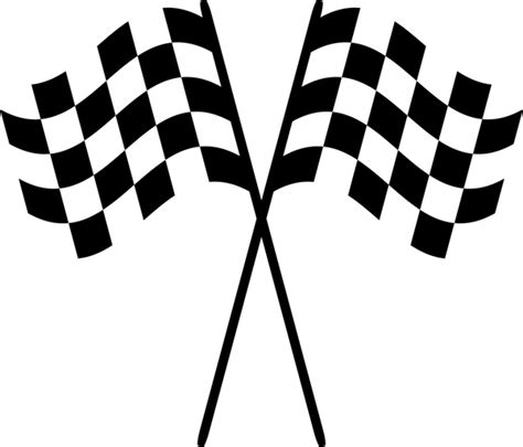 Sports checkered flag free icon. Racing checkered flags vector illustration Free vector in ...