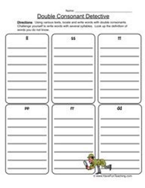 Double Consonant Detective  Double Consonants Worksheet 1  Worksheets, Free Worksheets And Phonics