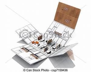 Geldscheine Falten Haus : stock illustration von haus falten m bel folding von ~ Lizthompson.info Haus und Dekorationen