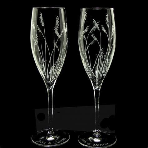 Sea Grass Champagne Glasses, Rustic Beach Wedding Toasting Flutes   The Wedding Gallery by Brad